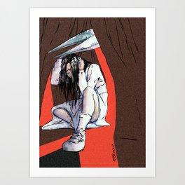 Clock Tower - Jennifer vs Scissorman Art Print