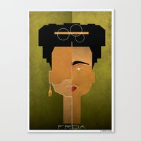 babina Canvas Prints featuring 020_frida by federico babina