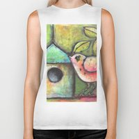 shopping Biker Tanks featuring House Shopping by Terri Stegmiller