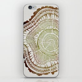 Tree Rings – Watercolor Ombre iPhone Skin
