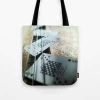 bass Tote Bags featuring Bass Cards  by Arran.Sahota