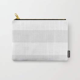 Wide Horizontal Stripes - White and Pale Gray Carry-All Pouch