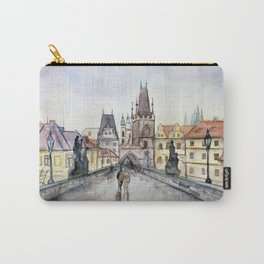 After the Rain Prague Charles Bridge Carry-All Pouch
