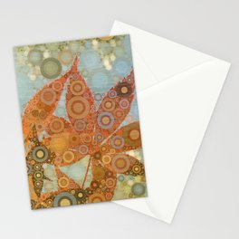 Perky Maple Leaf Abstract Stationery Cards