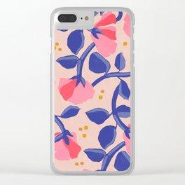 Lisbon Floral Clear iPhone Case