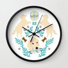 Cute Golden Retriever Wall Clock