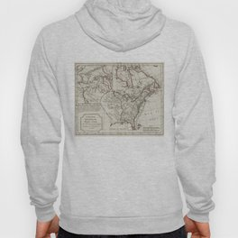 Vintage Map of North America (1795) Hoody