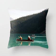 Lake Canoe Throw Pillow