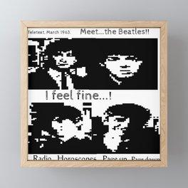 John, Paul, George and Ringo PAST TELETEXT ART. 1963 MUSIC. Framed Mini Art Print