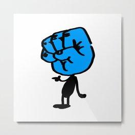 Blue Bumpitt Metal Print