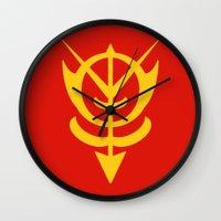 gundam Wall Clocks featuring Zeon by Vipes