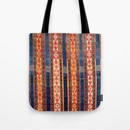 Shahsavan Moghan Caucasian Striped Rug Print Tote Bag
