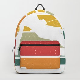 Retro Kiteboarding Vintage Kitesurfer Water Sports Backpack