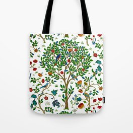 William Morris Tree of Life Pattern, Green & Multi Tote Bag