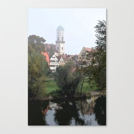 Quaint Buildings Near the Water Canvas Print