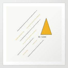 In Line Art Print