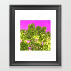 green and pink II Framed Art Print