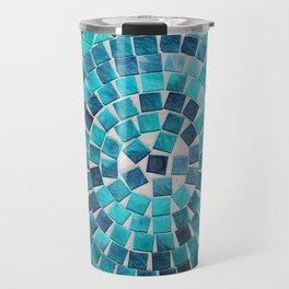 circular - photograph of mosaic tiles Travel Mug