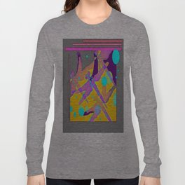Purple Dragonflies MirageAbstrct Long Sleeve T-shirt
