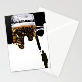 Paint of beer Stationery Cards