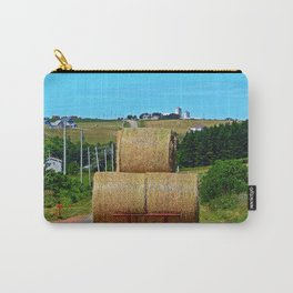 Hay Rolls on the Road in PEI Carry-All Pouch