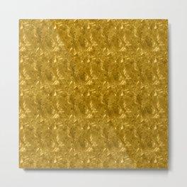 Gold Marble Design Metal Print