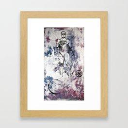 Superman is Here Framed Art Print