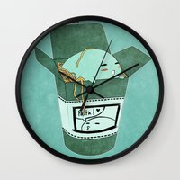 pasta Wall Clocks featuring Pasta Pudding by Luna Aldrin
