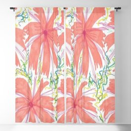 Tropical Sunburst Flowers Blackout Curtain