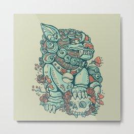 Chinese Guard Dog Metal Print