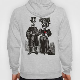 Calavera Couple | Skeleton Couple | Calaveras | Vintage Couple | Victorian Gothic | Hoody