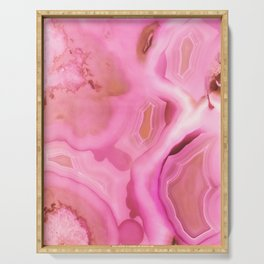Juicy Pink Agate Serving Tray