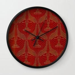 "Koloman (Kolo) Moser ""Poppyheads"" Wall Clock"