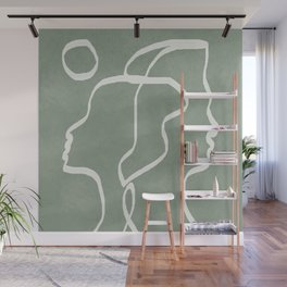 Abstract Faces Wall Mural