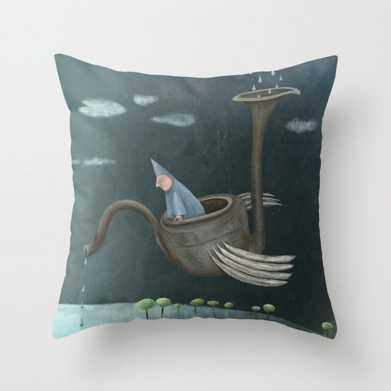 The Flying Machine Throw Pillow