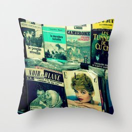 Brigitte Bardot in Paris by Lika Ramati Throw Pillow