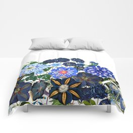 Vintage & Shabby Chic - Blue Flower Summer Meadow Comforters