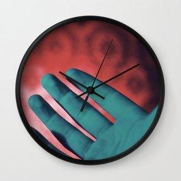 Neon Hands Wall Clock