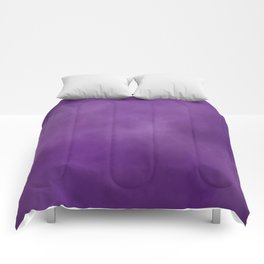 Smokey Watercolor Purple Solid Comforters