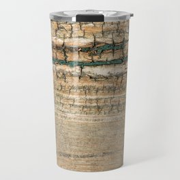 Rustic Wood Turquoise Paint Weathered and Aged to perfection Travel Mug