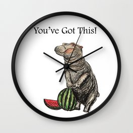 Fiona the Hippo You've Got This! Wall Clock