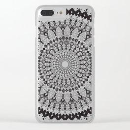 Geometric Sun Mandala Clear iPhone Case