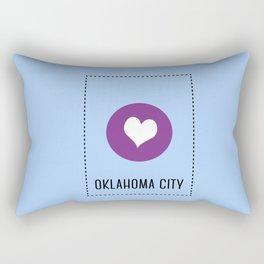 I Love Oklahoma City Rectangular Pillow