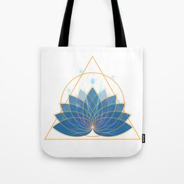 Triangle Lotus Tote Bag