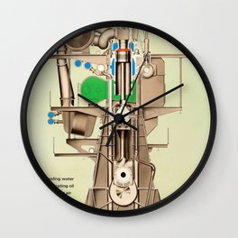 Marine Diesel Engine Wall Clock