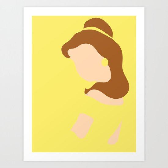 Belle - Beauty - Beauty and the Beast Art Print