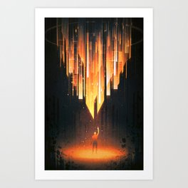 Torch Art Print