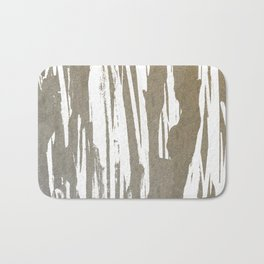 Abstract Taupe Splash Design Bath Mat