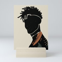 Black Hair No. 2 Mini Art Print