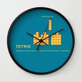 8 BITS BETTER - TETRIS Wall Clock